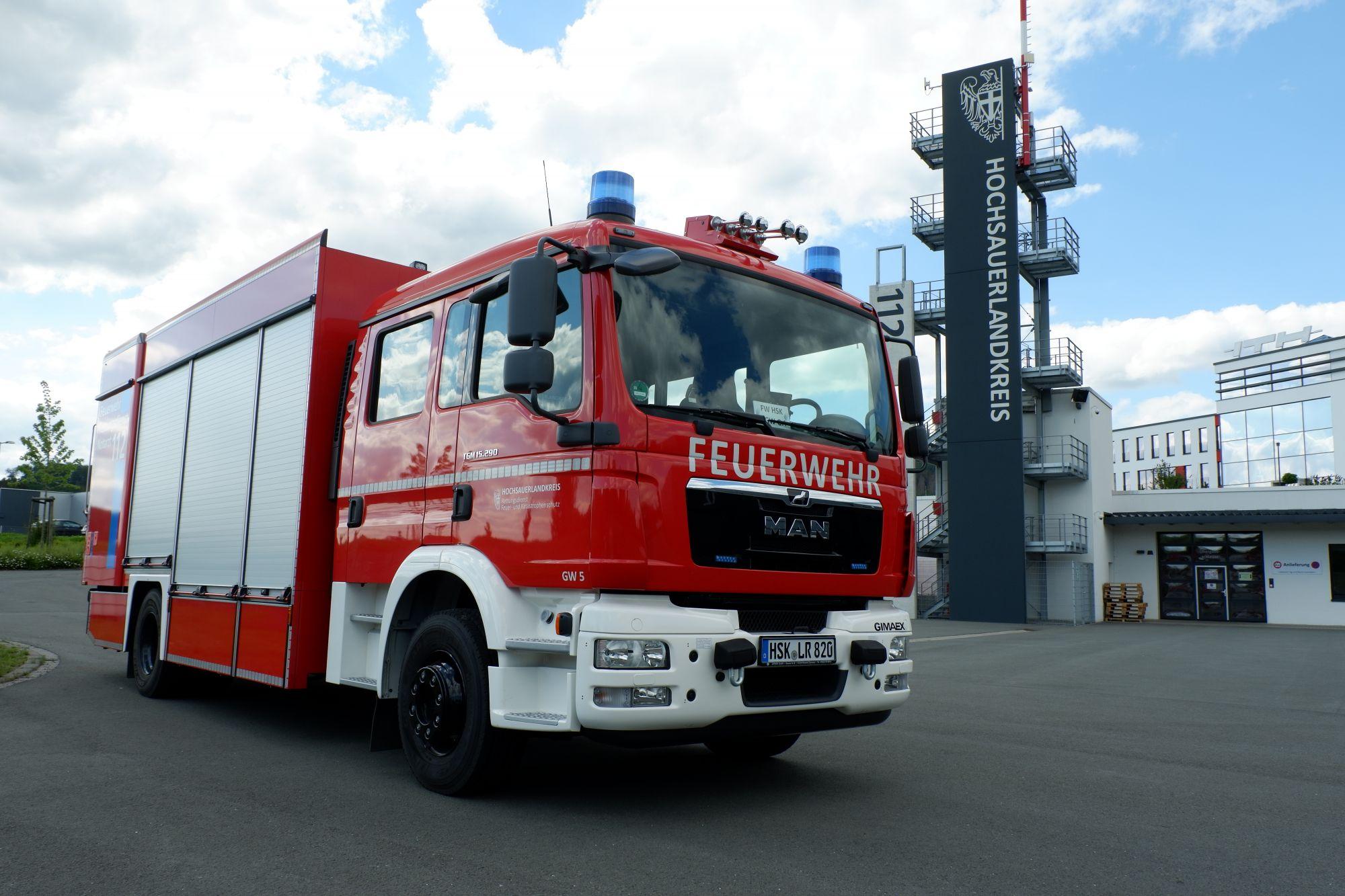 Der GW-G am Zentrum für Feuerschutz und Rettungswesen (ZFR) in Meschede-Enste in 2020