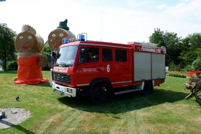 Das HLF-10 zur Schützenfestzeit in 2019