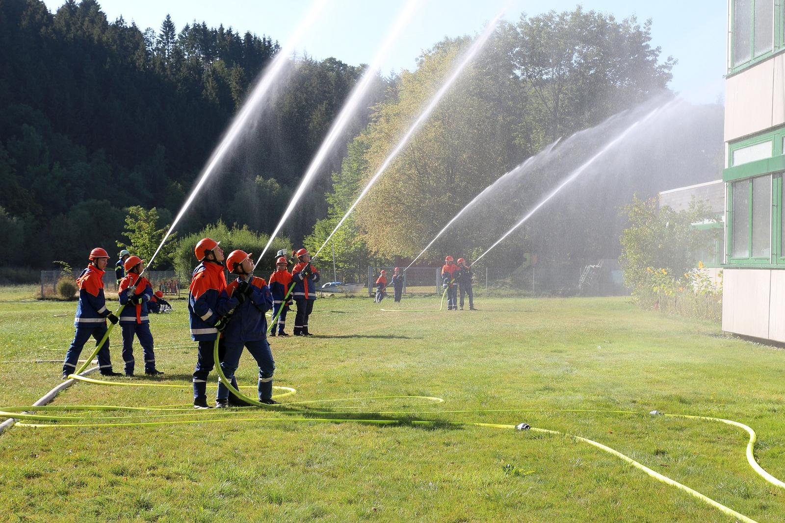 Brandbekämpfung von außen