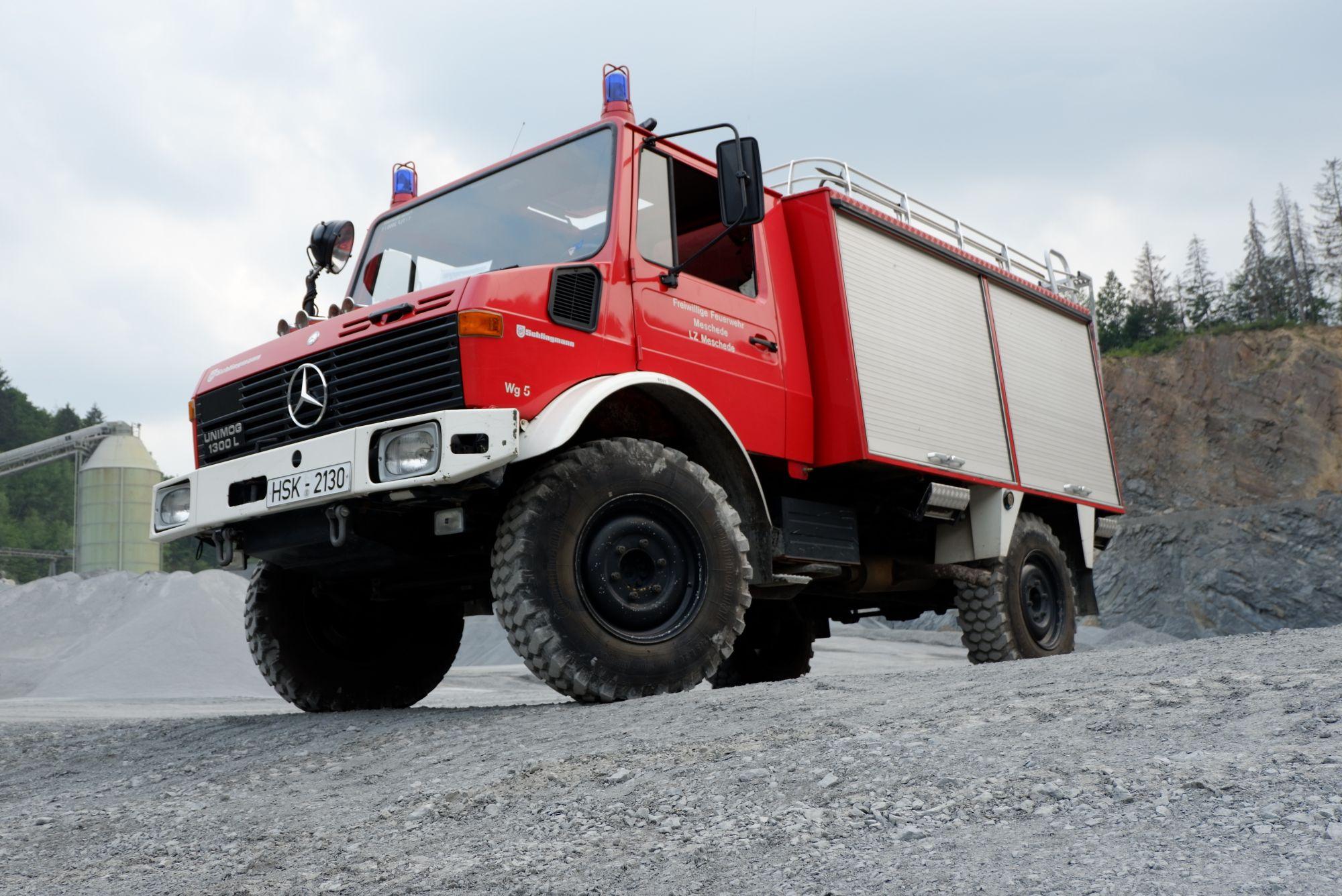 Das TLF-2000 im Steinbruch Berge in 2019