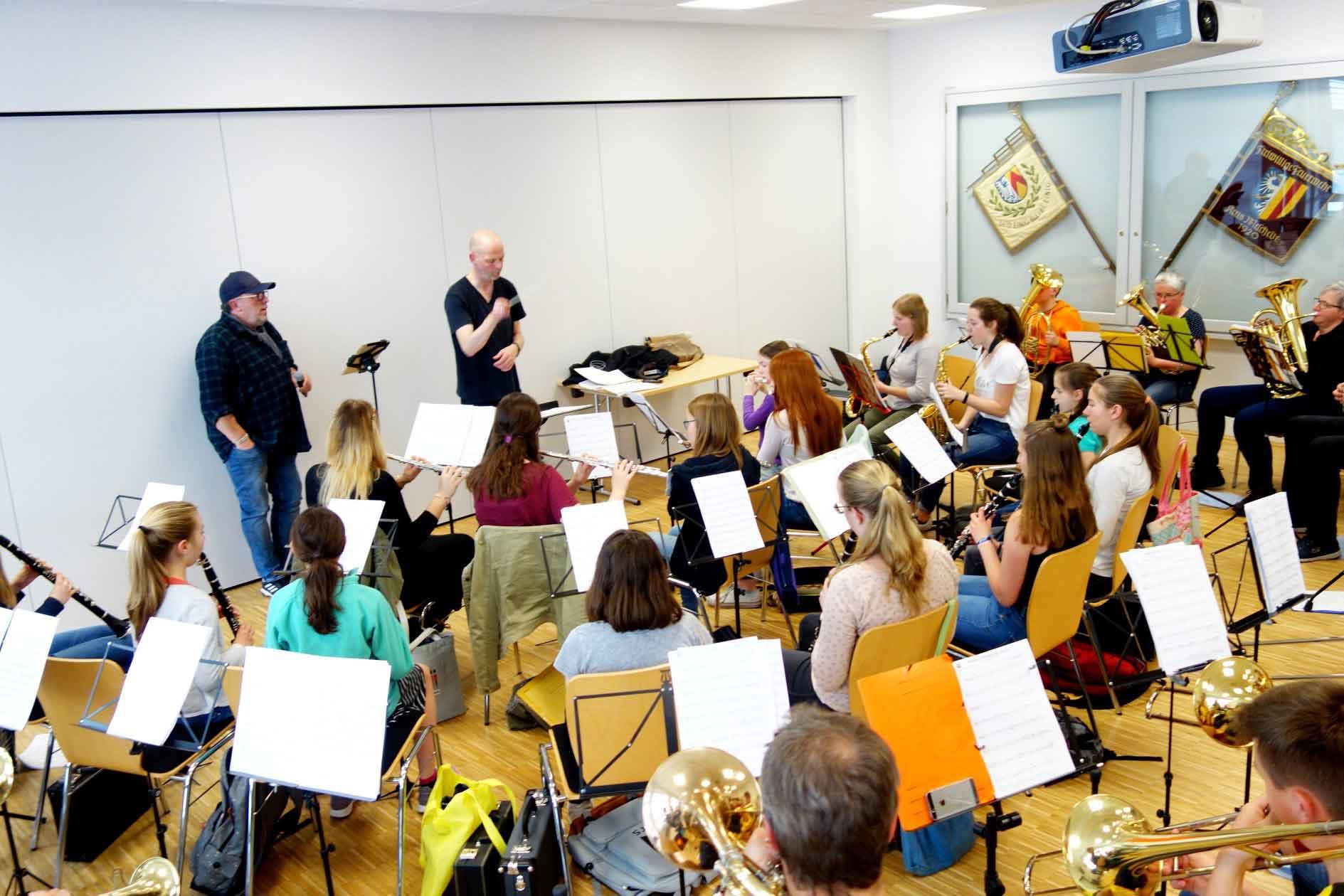 Probe des Jugendorchesters im Jahr 2019