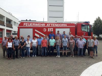 Gruppenfoto Feuerwehrfahrt