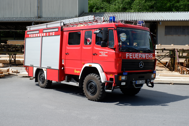 Das Hilfeleistungslöschgruppenfahrzeug im Sägewerk Drasenbeck in 2020