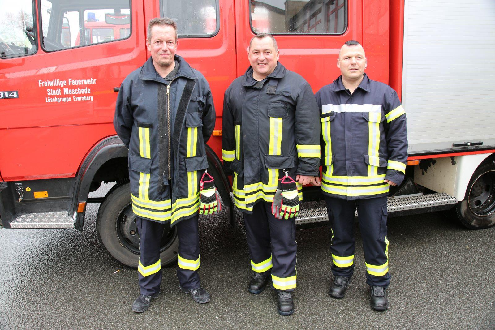Die ältesten Teilnehmer: Marcus Knipschild LG Eversberg, Rafael Czochara LG Eversberg , Karsten Pöttgen LZ Freienohl